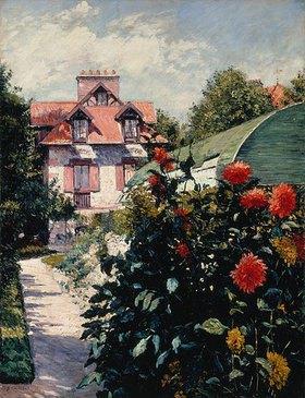 Gustave Caillebotte: Die Dahlien - Garten im kleinen Dorf Gennevilliers