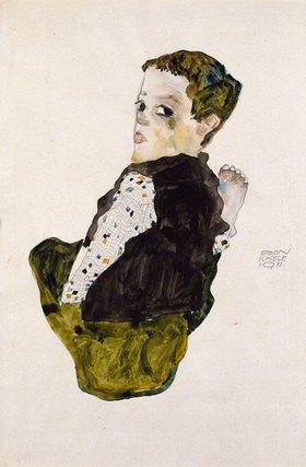 Egon Schiele: Sitzender Knabe