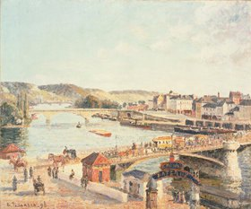 Camille Pissarro: Ein sonniger Nachmittag in Rouen