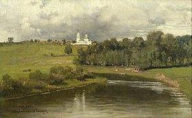 Ilja Efimowitsch Repin: Blick zur Kirche von Varvarino