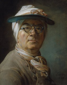 Jean-Baptiste Siméon Chardin: Selbstbildnis mit Mützenschirm