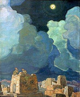 Nikolai Konstantinow Roerich: Meheski. Männer, den Mond betrachtend