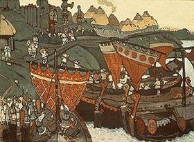 Nikolai Konstantinow Roerich: Slawen am Dnjepr