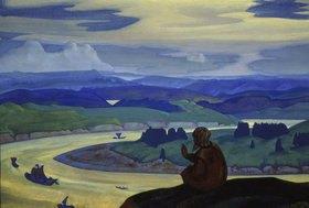 Nikolai Konstantinow Roerich: Der Hl. Prokopij betet für die unbekannten Schiffer