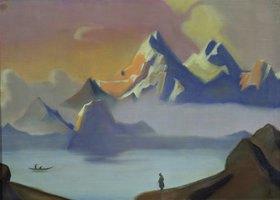 Nikolai Konstantinow Roerich: See und Berge in Tibet