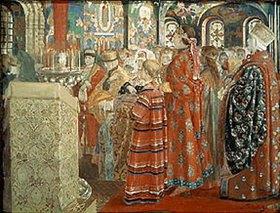 Andrej Petrow Rjabuschkin: Russische Frauen des 17. Jahrhunderts in einer Kirche