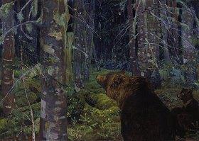 Arkadi Rylow: Braunbären im Wald