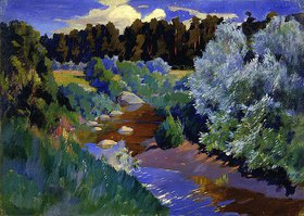 Arkadi Rylow: Landschaft mit Fluss
