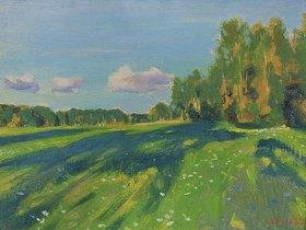 Arkadi Rylow: Sommerstudie, stiller Abend