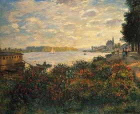 Claude Monet: Rote Blumen am Ufer der Seine bei Argenteuil