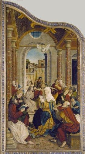 Martin Schaffner: Wettenhausener Altar. Das Pfingstwunder