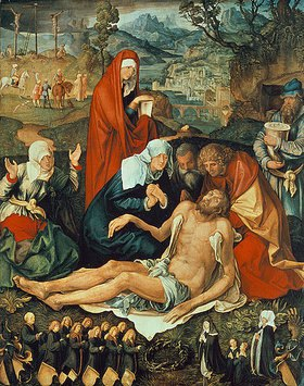 Albrecht Dürer: Die Beweinung Christi  (Holzschuherische Beweinung)