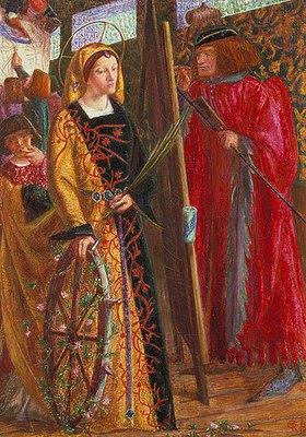 Dante Gabriel Rossetti: Die Hl. Katharina