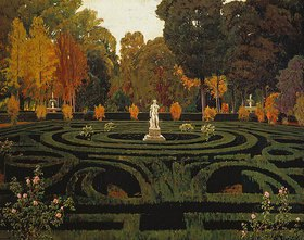 Santiago Rusinol y Prats: Gartenlabyrinth mit Faun-Statue