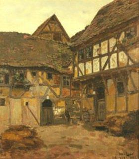 Carl Ludwig Noah Bantzer: Gehöft in Ockershausen