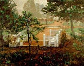 Leopold Graf von Kalckreuth: Heidegarten im Nebel