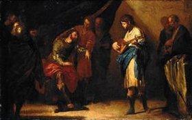 Bernardo Cavallino: David spielt vor Saul
