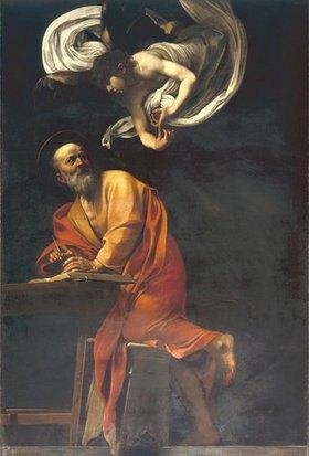 Caravaggio: Der Heilige Matthäus mit Engel