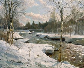Peder Moensted: Sonniger Wintertag