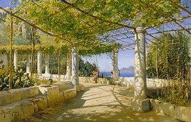 Peder Moensted: Pergola auf Capri mit Blick auf den Vesuv