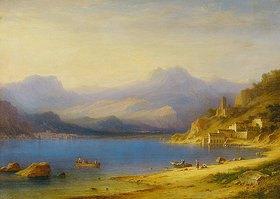 Carl Morgenstern: Comer See mit Booten