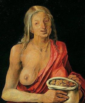 Albrecht Dürer: Vanitas (Altes Weib mit Geldbeutel)