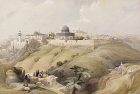 David Roberts: Blick auf Jerusalem. Frühes 19. Jahrhundert