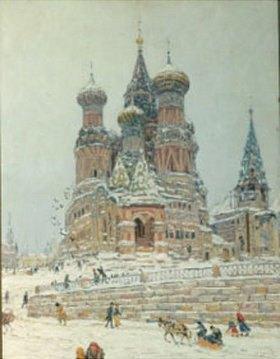 Nikolaj Dubowskoj: Moskau, die Kirche des gesegneten Wassilij