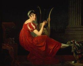 Briton Riviere: Bildnis einer Dame mit Saiteninstrument