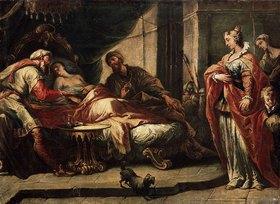 Gaspare Diziani: Antiochus (Sohn des Syrer-Königs Seleucus) in Liebe zu seiner Stiefmutter Strat