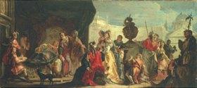 Francesco Fontebasso: Der syrische König Seleucus am Bett seines liebeskranken Sohnes Antiochus