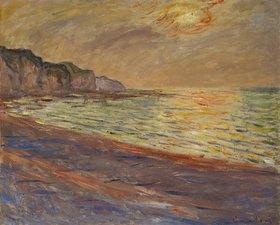 Claude Monet: Strand in Pourville, Sonnenuntergang