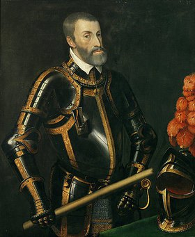 Tizian (Tiziano Vecellio): Kaiser Karl V. im Harnisch