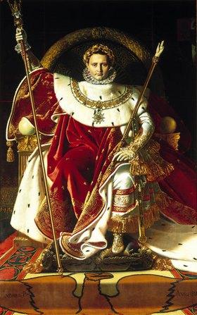 Jean Auguste Dominique Ingres: Napoleon Bonaparte auf dem Thron
