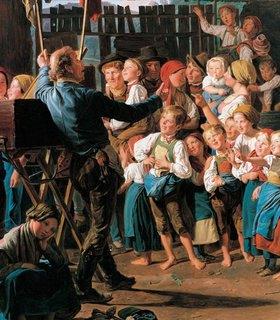 Ferdinand Georg Waldmüller: Der Guckkastenmann. 1847. Detail