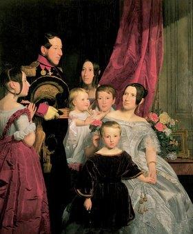 Ferdinand Georg Waldmüller: Die Familie Gierster. Josef Leopold Gierster (1800-1863) mit Frau und 5 Kindern