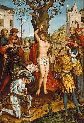 Hans Holbein d.Ä.: Sebastiansaltar. Mitteltafel: Martyrium des heiligen Sebastian