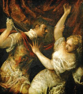 Tizian (Tiziano Vecellio): Tarquinius und Lucrecia