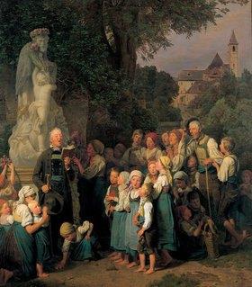 Ferdinand Georg Waldmüller: Die Verehrung des Hl. Johannes (Johannes-Andacht in Sievering)