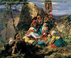 Ferdinand Georg Waldmüller: Die kranke Pilgerin