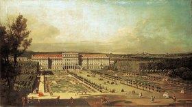 Canaletto (Giov.Antonio Canal): Schloss Schönbrunn, Gartenseite und grosses Parterre