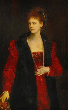 Hans Makart: Schauspielerin Zerline Gabillon (1835-1892), Bildnis