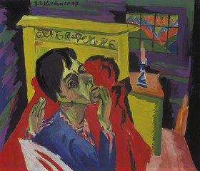 Ernst Ludwig Kirchner: Selbstbildnis als Kranker
