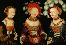 Lucas Cranach d.Ä.: Die Prinzessinnen Sibylla, Emilia und Sidonia von Sachsen