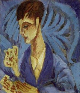 Ernst Ludwig Kirchner: Kartenspielender Knabe