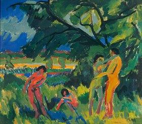 Ernst Ludwig Kirchner: Spielende nackte Menschen