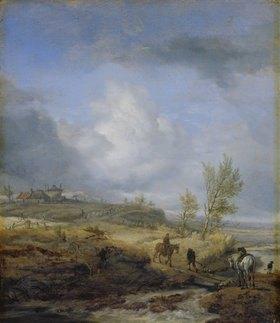 Philips Wouwerman: Bewölkte Dünenlandschaft. 1640-er Jahre