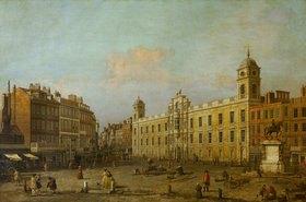 Canaletto (Giov.Antonio Canal): Das Northumberland-House am Trafalgar Square, London