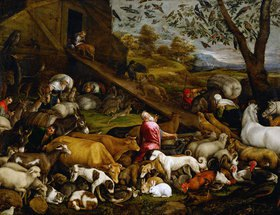 Bassano (Jacopo da Ponte): Zug der Tiere zur Arche Noah