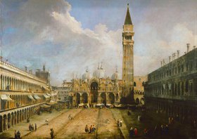 Canaletto (Giov.Antonio Canal): Die Piazza San Marco in Venedig